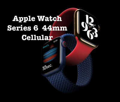 AU790 • Buy BRAND NEW Apple Watch SERIES 6 44mm GPS + CELL Black / Blue (AUS STOCK) UNLOCK