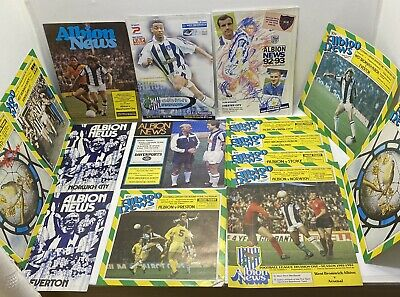 16 West Bromwich Albion Home Football Programmes - 1973-1999 - West Brom WBAFC • 9.99£