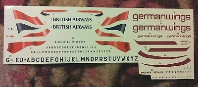 Revell Airbus A319 British Airways German Wings 1/144 Scale Decals Only Used • 13.61£