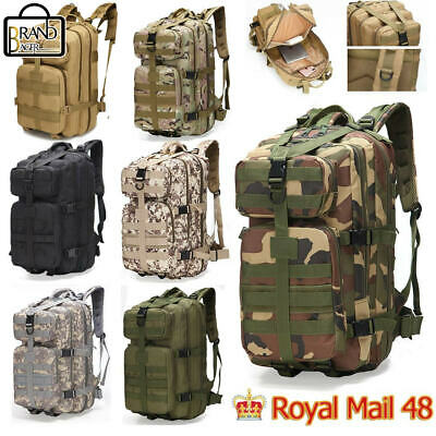 35L Camping Hiking Rucksack Trekking Outdoor Bag Military Tactical Army Backpack • 15.09£