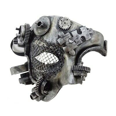 Fancy Dress Mask Steampunk Mechanical Gothic Phantom Cosplay Masquerade Party  • 11.95£