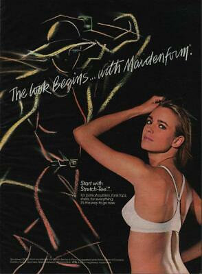 $4.97 • Buy 1987 Maidenform Lingerie Vintage Magazine Ad Page Sexy Girl In White Bra