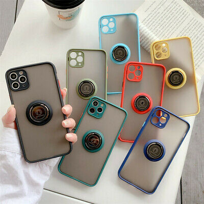 AU11.79 • Buy Phone Case With Ring Holder For IPhone 11 Pro Max Xr Xs Max 8 7 Plus Back Cover
