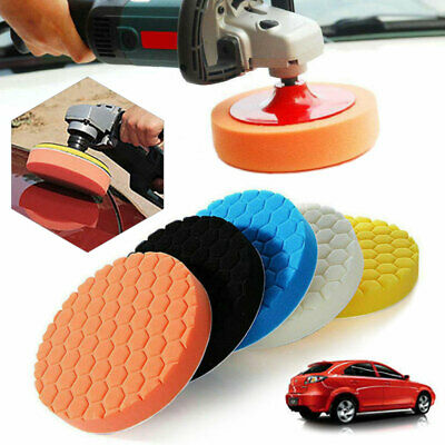5x Car Polisher 6 Inch Sponge Polishing Waxing Buffing Pads Kit Set Compound UK • 8.34£