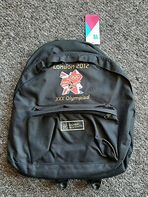 £19.99 • Buy Official London 2012 Olympic Backpack Black Rucksack Bag Brand New With Tags