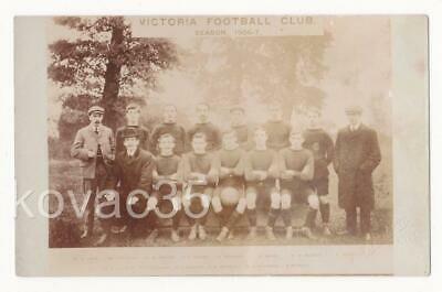 VICTORIA FOOTBALL CLUB Team Photo, RP 1906-7 (Bath/ Malmesbury?) - Baldwin, Bath • 7.99£