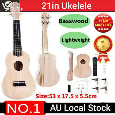 AU15.98 • Buy 21in Ukelele Basswood Guitar DIY Kit Hawaii Guitar Handwork Kids Assembly Gift