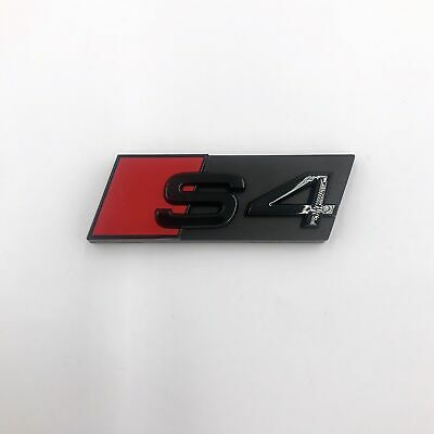 1pc OEM Emblem Style Front Grille Black S4 Badge Logo For Honeycomb Mesh Audi S4 • 27.55£