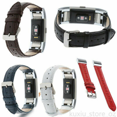 AU13.99 • Buy  For Fitbit Charge 2 /2 HR Leather Wrist Watch Band Strap Alligator Pattern