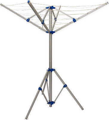 Andes 4 Arm Aluminium Rotary Camping Clothes Airer 16m Washing Line Drying Rack • 34.99£