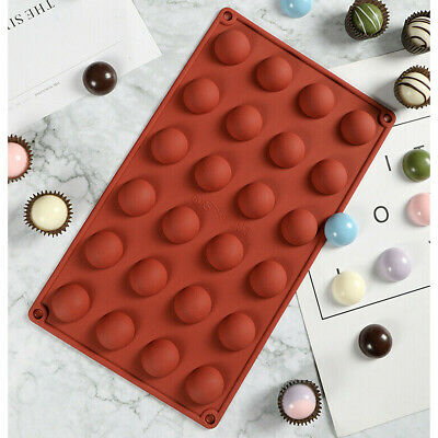 £3.55 • Buy 24 Half Ball Sphere Silicone Mould Chocolate Fondant Jelly Ice Cube Mold Wax DIY