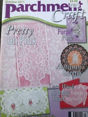 Parchment Craft Magazine October 2011 Autumn Gnome, Poppy Card, Christmas, Lace • 2.50£