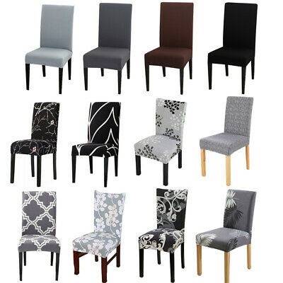 AU5.69 • Buy Stretch Dining Chair Seat Covers Spandex Lycra Washable Banquet Wedding Party AU