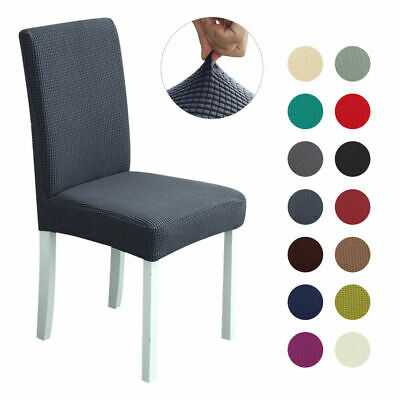 AU20.89 • Buy Stretch Dining Chair Seat Covers Spandex Lycra Washable Banquet Wedding Party AU