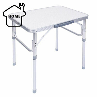 Portable Adjustable Folding Table Step Up Stool Camping Outdoor Picnic Party BBQ • 17.49£