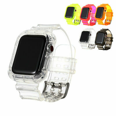 AU15.99 • Buy Clear Sports Band TPU Strap Case For Apple Watch 42/44mm IWatch Series 5/4/3/2/6