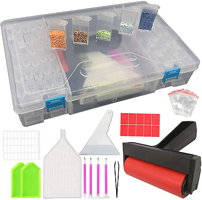 104 Pieces 5D Diamond Painting Tools Kit For Adults And Kids, DIY Art Craft Box • 8.38£