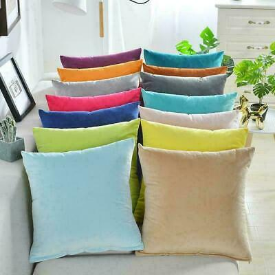 UK Soft Velvet Cushion Cover Colorful Plain Pillowcase Home Bed Sofa Decors • 3.99£