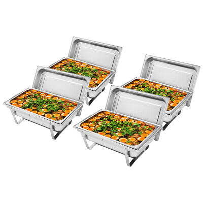 £137.85 • Buy 4X Chafing Dish Buffet Set Caterer Food Warmer Tray Dinner Serving Wedding Venue