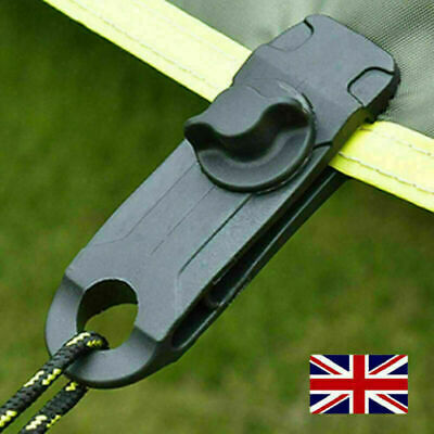 3-20X Reusable Tent Tarp Tarpaulin Clip Clamp Buckle Camping Tool Heavy Duty • 3.49£