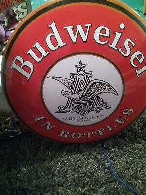 $ CDN31.78 • Buy Budweiser Round Tin Sign