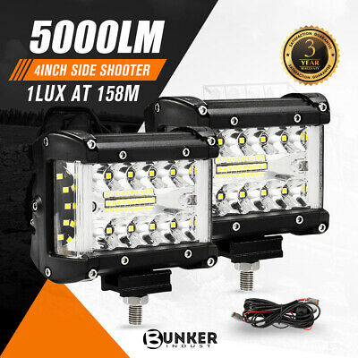 AU39.95 • Buy 2x 4inch CREE LED Light Bar Side Shooter Pods Combo Beam Work Driving 4WD