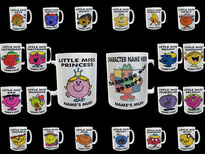 MR MEN LITTLE MISS Personalized Mug, Ideal Christmas Gift Birthday Party Present • 8.95£