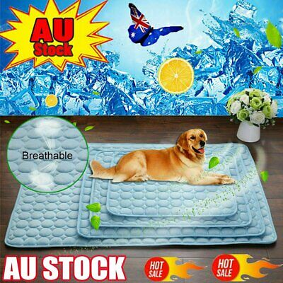 AU21.50 • Buy Pet Cooling Mat Non-Toxic Cool  Pad Cooling Bed For Summer Dog Cat Puppy AUS