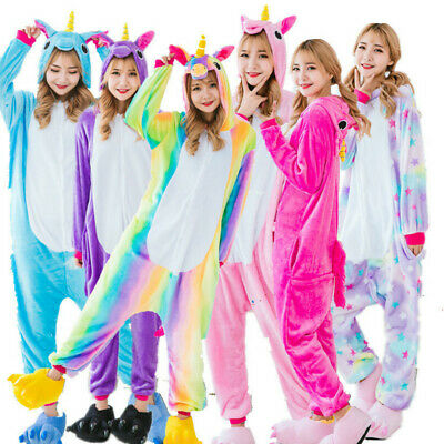 AU24.91 • Buy UK Adult Unicorn Unisex Women Kigurumi Animal Cosplay Costume Onesi866 Pajamas A