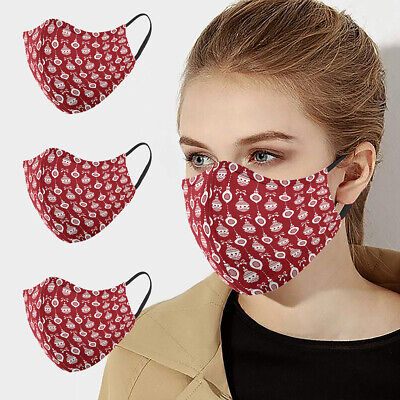 Decoration Ball Adult Fabric Face Mask Cover Triple Layer Washable Reusable • 3.99£