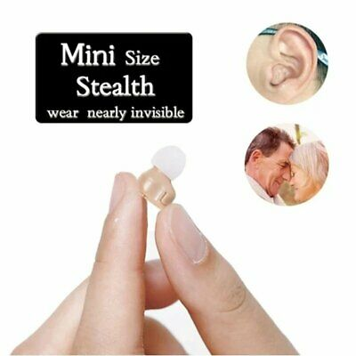 Invisible Mini In Ear Digital Hearing Deaf Aid Sound Voice Amplifier Enhancer UK • 16.29£