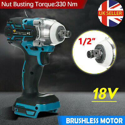 Cordless Impact Wrench For Makita DTW285Z Brushless 1/2  18V Li-ion Driver Only • 28.89£