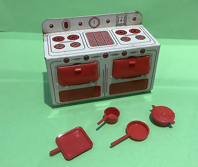 Vintage Dolls House Brimtoy Cooker Stove & Accessories • 12£