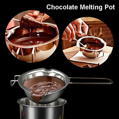 Long Handle Wax Melting Pot DIY Scented Candle Soap Chocolate Melting Pot LL • 5.41£