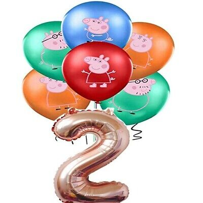 Large Peppa Pig Balloon 31  George Birthday Party Foil Air Helium Fill Balloons • 2.99£