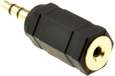 Kenable 2.5mm Stereo Socket To 3.5mm Stereo Jack Plug Adapter Gold Plated • 2.36£