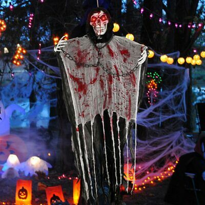 $ CDN24.98 • Buy 5.6ft Hanging Ghost Halloween Decorations Outdoor With Creepy Scream & LED Eyes