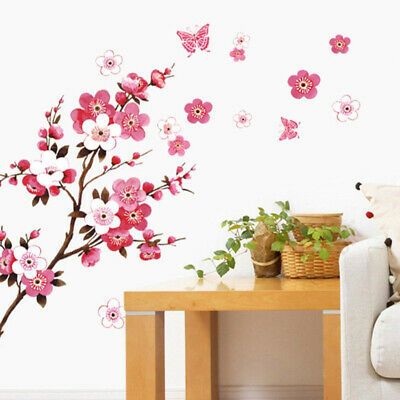 £3.88 • Buy Large Cherry Blossom Flower Butterfly Tree Wall Stickers Art Decal Home Decor E