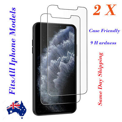 AU3.98 • Buy X2 Tempered Glass Screen Protector Film For IPhone 11 Pro Max X XR XS X SE2020