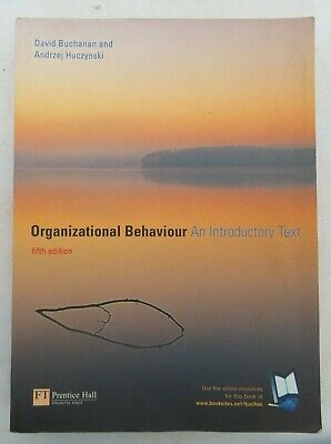 £15 • Buy Organizational Behaviour An Introductory Text Fifth Edition Book Good Condition