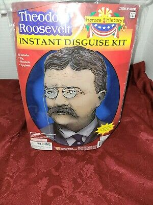 $ CDN15.82 • Buy Vintage Halloween Costume  Disguise Kit Thedore Roosevelt Heroes In History