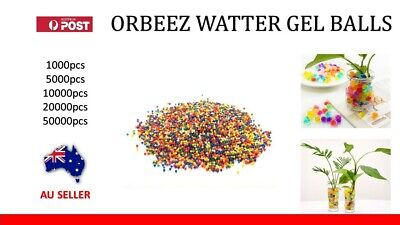 AU5.85 • Buy Orbeez Crystal Soil Watter Gel Beads Jelly Balls For Vases Wedding Decorations