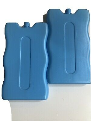 2 X Freezer Ice Blocks For Cooler Bag/Box/Picnic/Lunch/Camping Reusable Blocks • 3.99£
