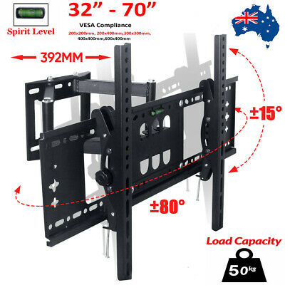 AU33.19 • Buy TV Wall Mount Bracket Full Motion Tilt Swivel Pivot 32 40 50 55 60 65 70 In 50KG