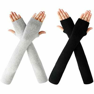 Women Cute Protection Arm Warmer Long Fingerless Stretchy Gloves Sleeves Mittens • 2.96£