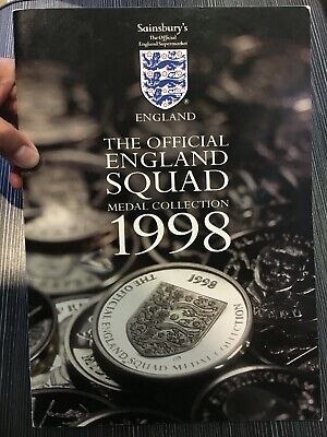 £99 • Buy The Official England 1998 World Cup Medal Coins - Complete Set