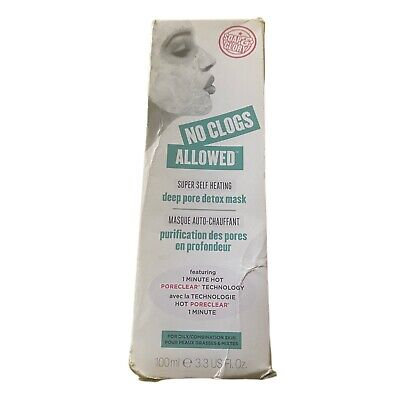 £24.99 • Buy 1 Soap & Glory No Clogs Allowed Self Heating Deep Pore Cleansing Mask 100ml