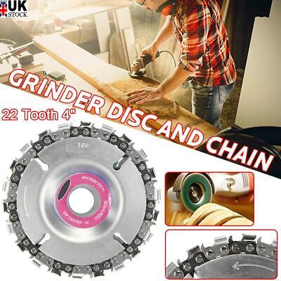 4'' Angle Grinder Disc 22 Tooth Chain Saw For Wood Carving Culpting Plastic Tool • 6.99£