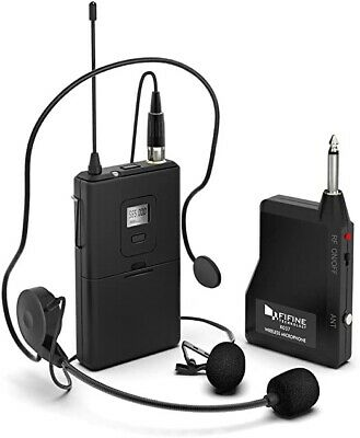 Wireless Microphone System,FIFINE Wireless Microphone Set With Headset And Lapel • 67.95£