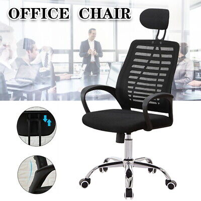 AU56 • Buy Adjustable Mesh Office Chair Gaming Executive Swivel Headrest Computer Desk AU